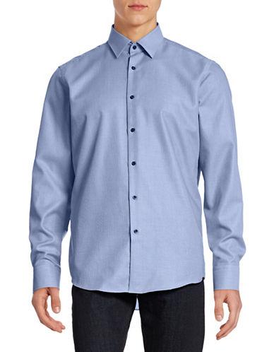 Hugo Enzo Woven Sport Shirt-BLUE-EU 43/US 17