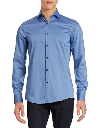 Hugo Dotted Slim Sport Shirt-BLUE-EU 39/US 15.5