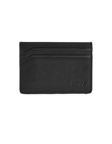 Hugo Subway Leather Card Case-BLACK-One Size
