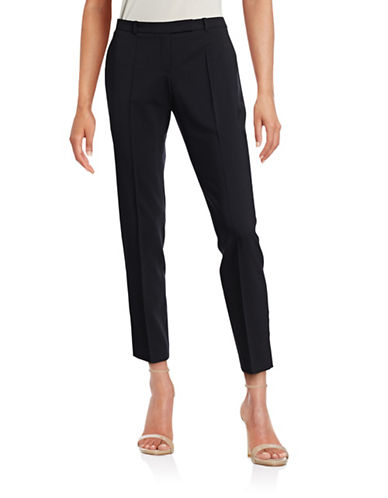 Hugo Harile Stretch-Wool Pants-BLUE-EUR 38/US 6