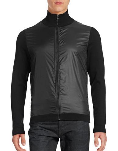 Boss Green Stretch Mock Neck Sweater-BLACK-Medium 88592813_BLACK_Medium