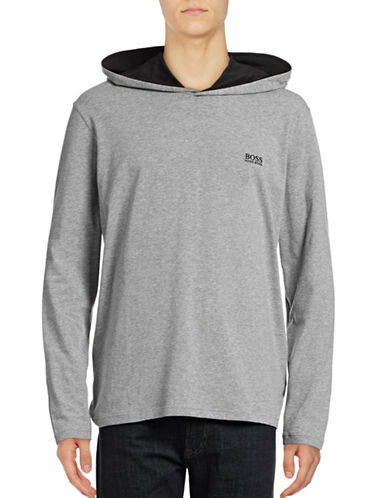 Boss Hooded Long-Sleeve Shirt-MEDIUM  GREY-Small 88941964_MEDIUM  GREY_Small