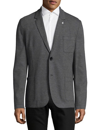 Hugo Agalton Knit Sports Jacket-GREY-42