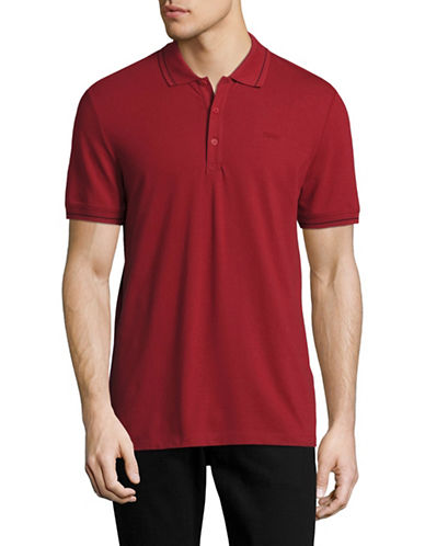 Hugo Daymont Stretch Polo-RED-Small