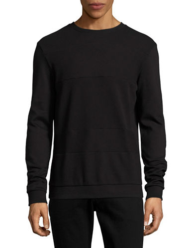 Hugo Dyatt Ribbed Pullover-BLACK-Medium