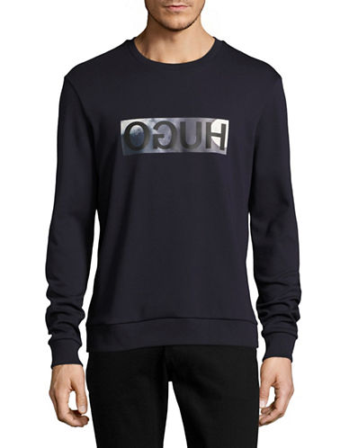 Hugo Dicagos Printed Sweatshirt-NAVY-Large