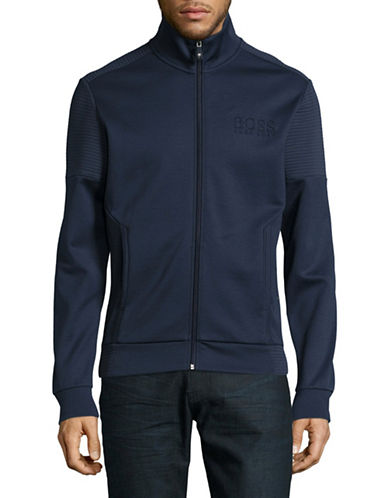 Boss Green Skaz Full-Zip Jacket-NAVY-Large