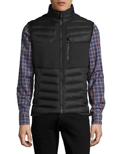 Boss Green Vusano Quilted Vest-BLACK-Medium