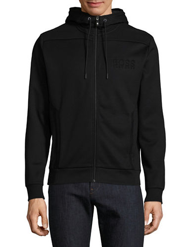 Boss Green Saggy Full-Zip Hoodie-BLACK-X-Large