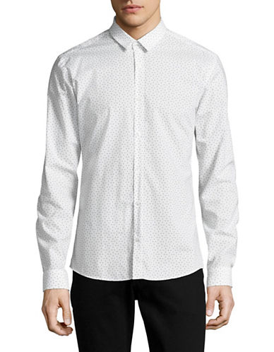 Hugo Ero3 Printed Sport Shirt-WHITE-Small