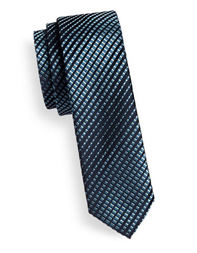 Hugo Gradient Skinny Silk Tie-NAVY-One Size
