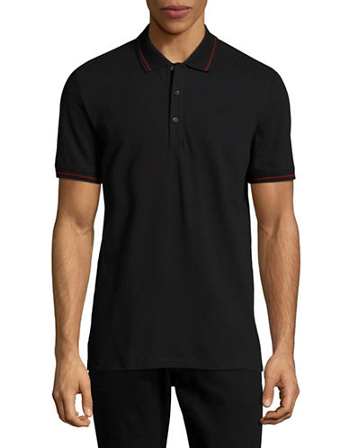 Hugo Daymont Stretch Polo-BLACK-Small
