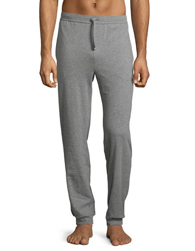 Boss Stretch Cotton Long Pants-GREY-Large