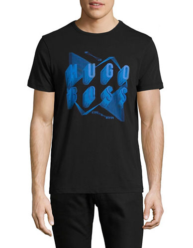 Boss Green Teeos Logo Graphic T-Shirt-BLACK-X-Large 89267734_BLACK_X-Large