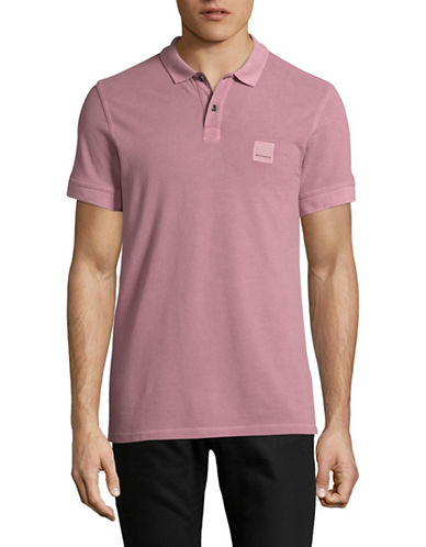 Boss Orange Pascha Slim-Fit Polo Shirt-PINK-Large