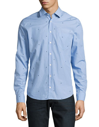 Boss Orange Epop Printed Sport Shirt-BLUE-Large