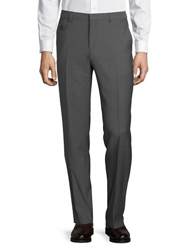 Hugo Wool Dress Pants-GREY-36