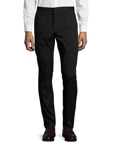 Hugo Harlyn Solid Dress Pants-BLACK-32
