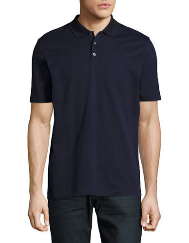 Hugo Dateno Woven Polo-NAVY-Small
