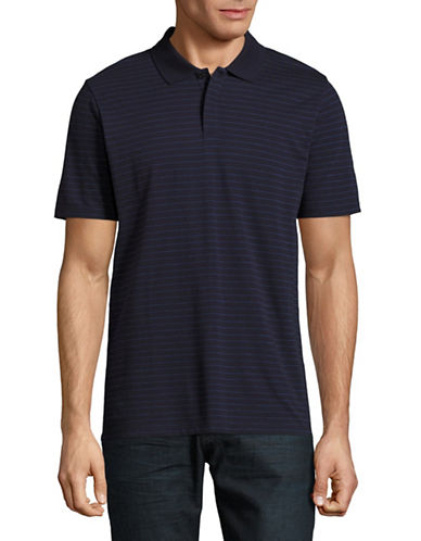 Hugo Dairfield Striped Polo-NAVY-Large