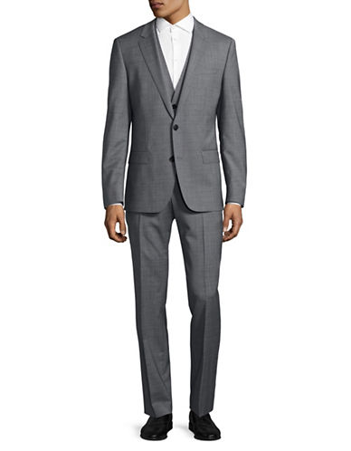 Hugo C-Huge Three-Piece Two-Button Suit-GREY-40