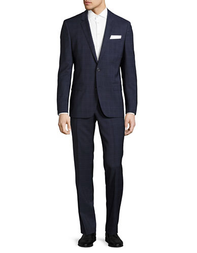 Hugo C-Huston Virgin Wool Two-Button Suit-NAVY-44