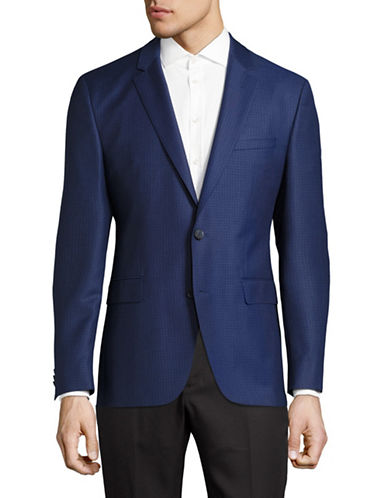 Hugo C-Jeys Virgin Wool Two-Button Suit-BLUE-48