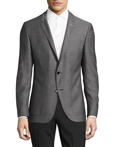 Hugo C-Hamilton Virgin Wool Sports Jacket-GREY-40