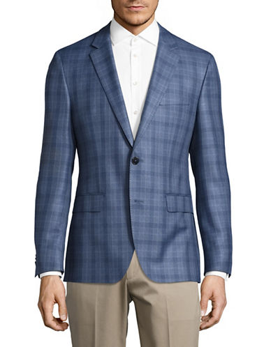 Hugo C-Jamith Virgin Wool Sports Jacket-BLUE-40