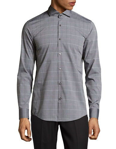 Hugo C-Jason Slim Fit Sport Shirt-BLACK-EU 39/US 15.5