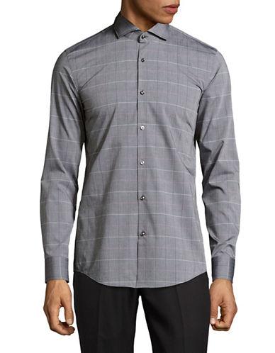 Hugo C-Jason Slim Fit Sport Shirt-BLACK-EU 43/US 17