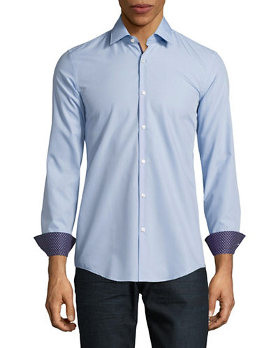 Hugo C-Joey Slim Fit Sport Shirt-LIGHT BLUE-EU 44/US 17.5