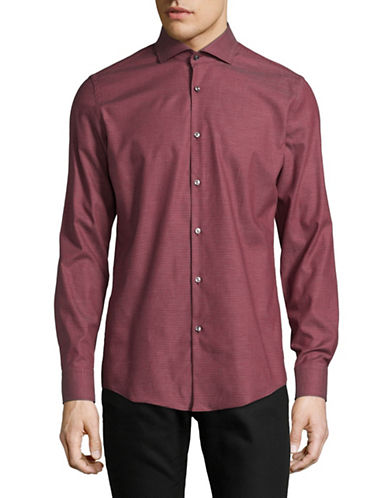 Hugo Slim-Fit Stretch Sport Shirt-RED-EU 43/US 17