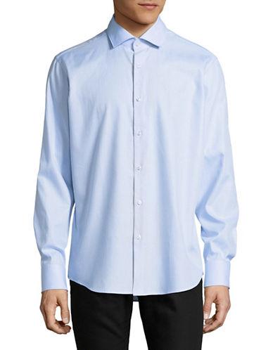Hugo Regular-Fit Pincheck Sport Shirt-BLUE-EU 39/US 15.5