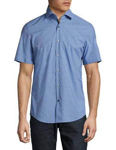 Hugo C-Eraldino Gingham Sport Shirt-BLUE-EU 39/US 15.5