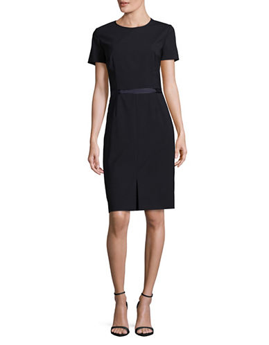 Hugo Kadia Short-Sleeved Dress-BLUE-EUR 40/US 8