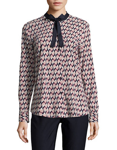 Hugo Elsien Cat-Printed Blouse-MULTI-EUR 36/US 4