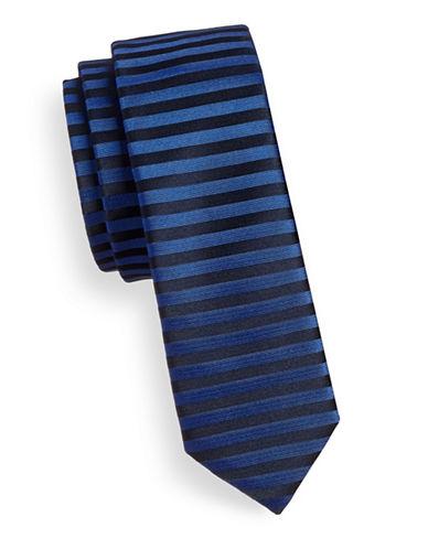 Hugo Horizontal Stripe Silk Tie-NAVY-One Size