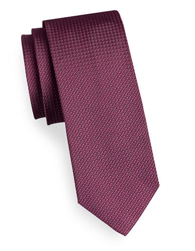 Hugo Mirco Dot Silk Tie-RED-One Size