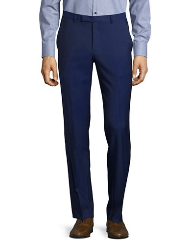 Hugo C-Shark1 Virgin Wool Dress Pants-BLUE-34