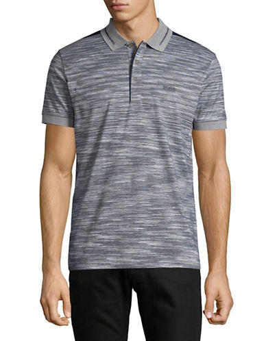 Boss Green Paddy Striped Polo-GREY-X-Large