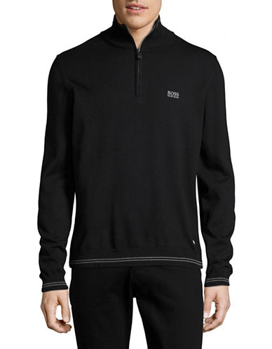 Boss Green Zime Mock Neck Pullover-BLACK-X-Large