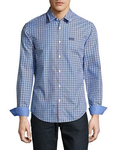 Boss Green C-Buster Gingham Regular-Fit Sport Shirt-BLUE-Medium