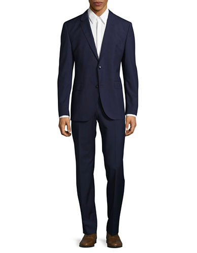 Hugo C-Jeffery Two-Piece Wool Suit-NAVY-40