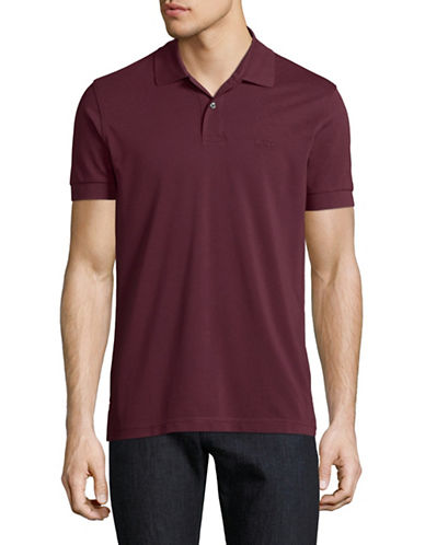 Boss Green Pique Polo-RED-Medium