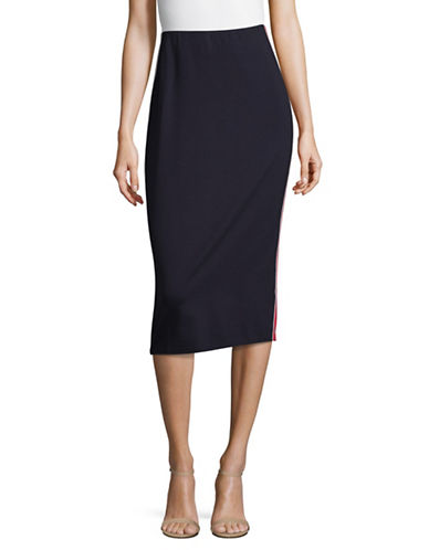 Hugo Nimy Ponte Pencil Skirt-BLUE-Small
