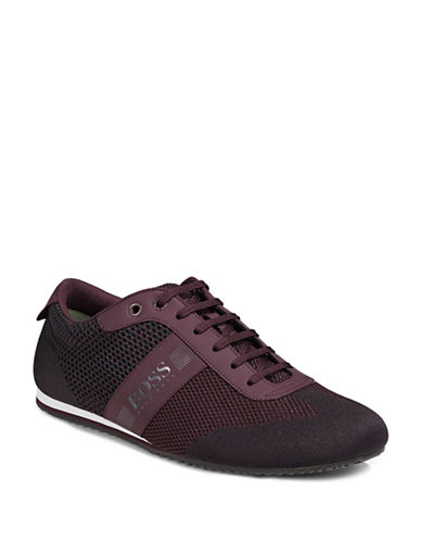Boss Green Lighter Low Profile Knit Sneakers-DARK RED-10