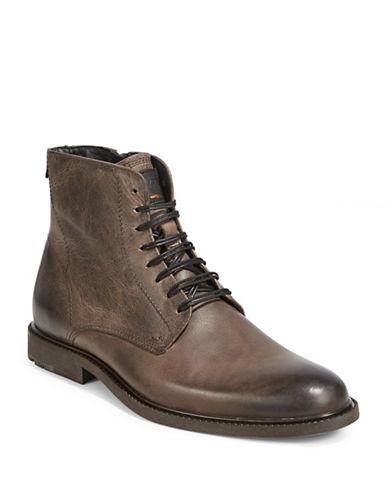 Boss Orange Monochrome Leather Boots-MEDIUM BROWN-12