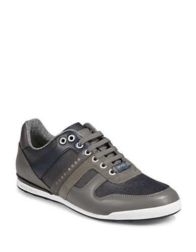 Boss Green Arkansas Low-Profile Sneakers-GREY-10