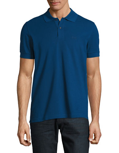 Boss Green Pique Polo-BLUE-Medium